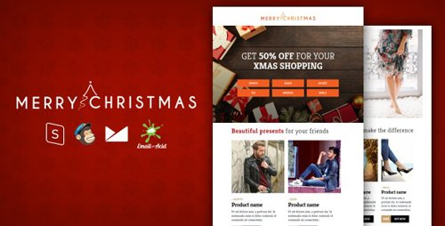 ThemeForest - XMAS v1.0 - E-commerce Responsive Email Template with MailChimp Editor, StampReady & Online Builder - 25249341
