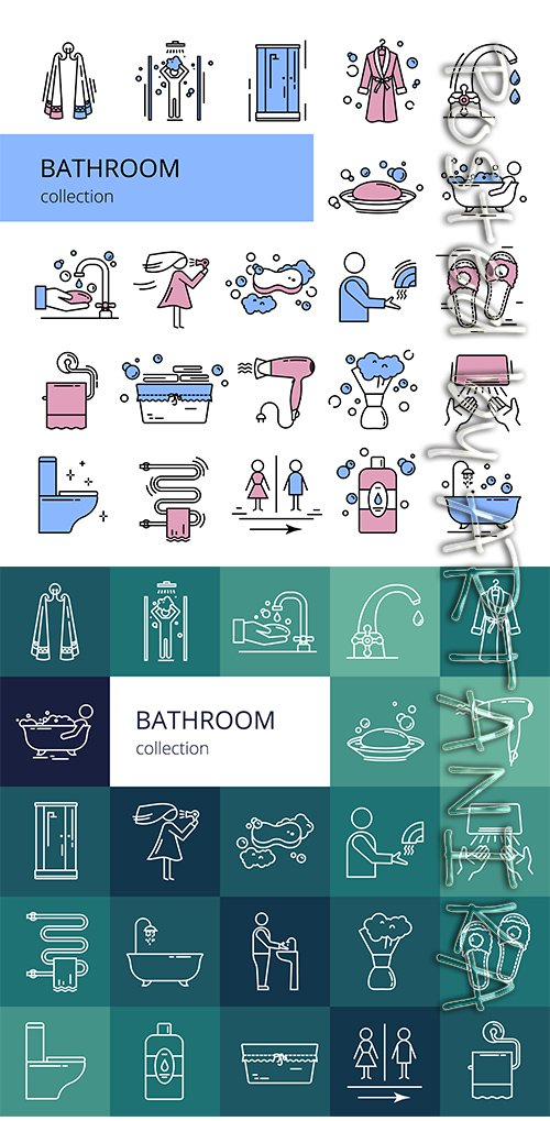 Collection of Bathroom Icons
