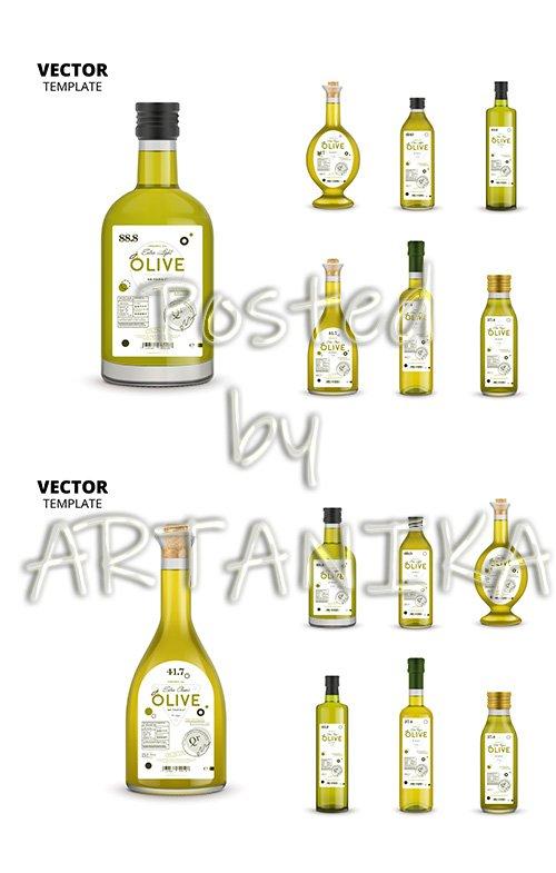 Organic Extra Virgin Olive Oil Glass Bottle Packagings Set
