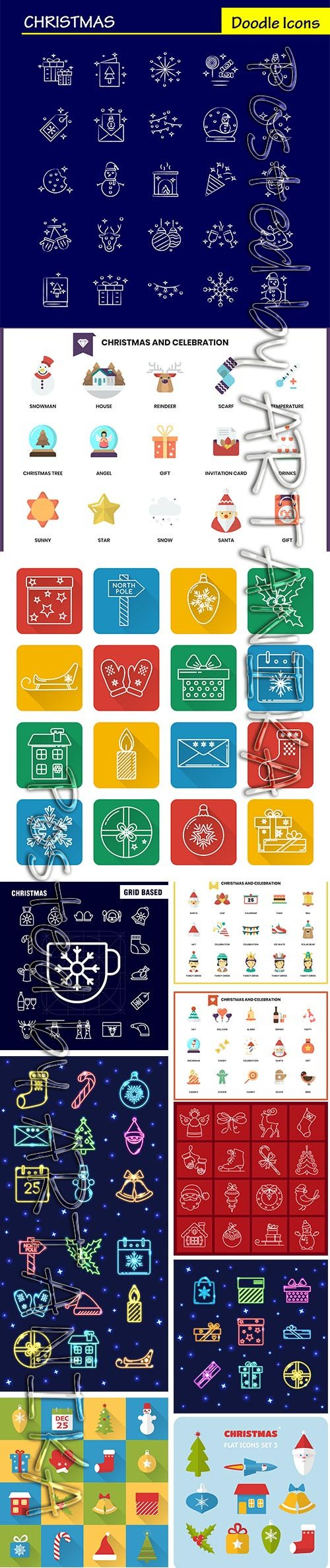 Christmas Hand-Draw Icons Set
