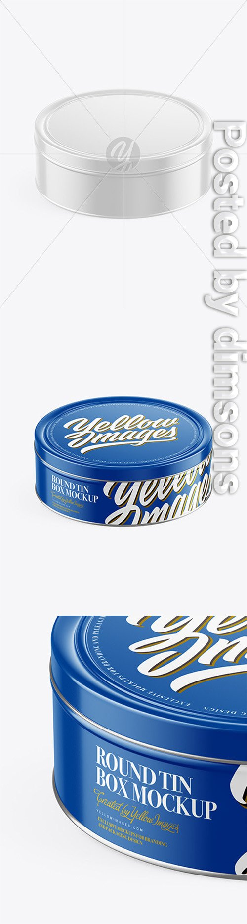 Glossy Round Tin Box Mockup (High-Angle Shot) 50440 TIF