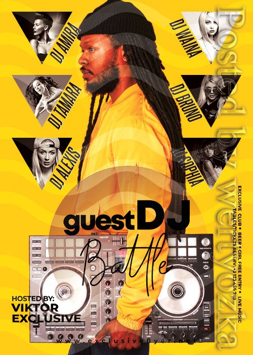 Guest djs battle - Premium flyer psd template