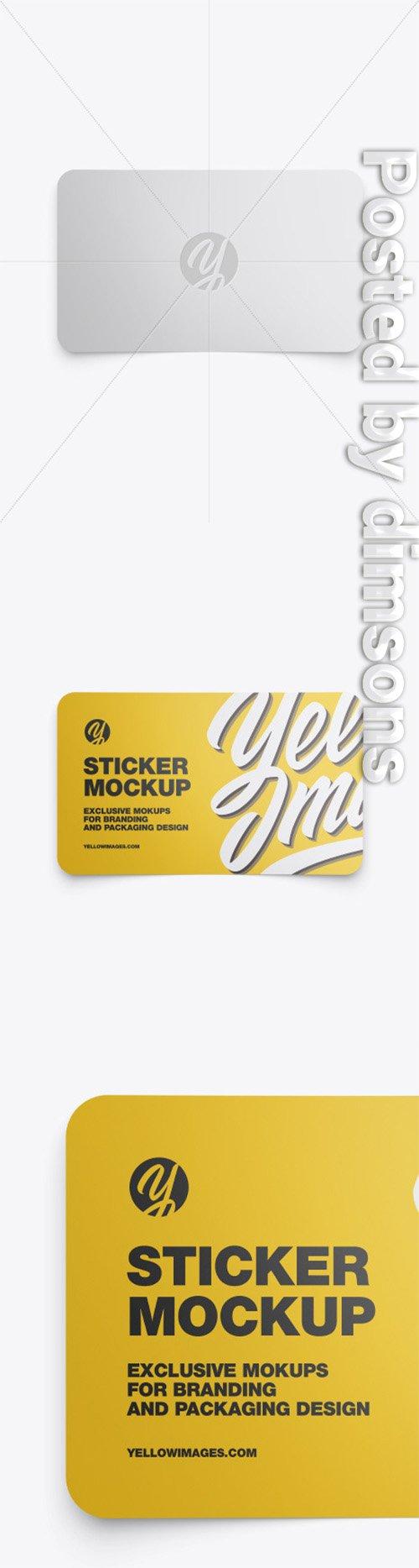Matte Sticker Mockup 50538 TIF