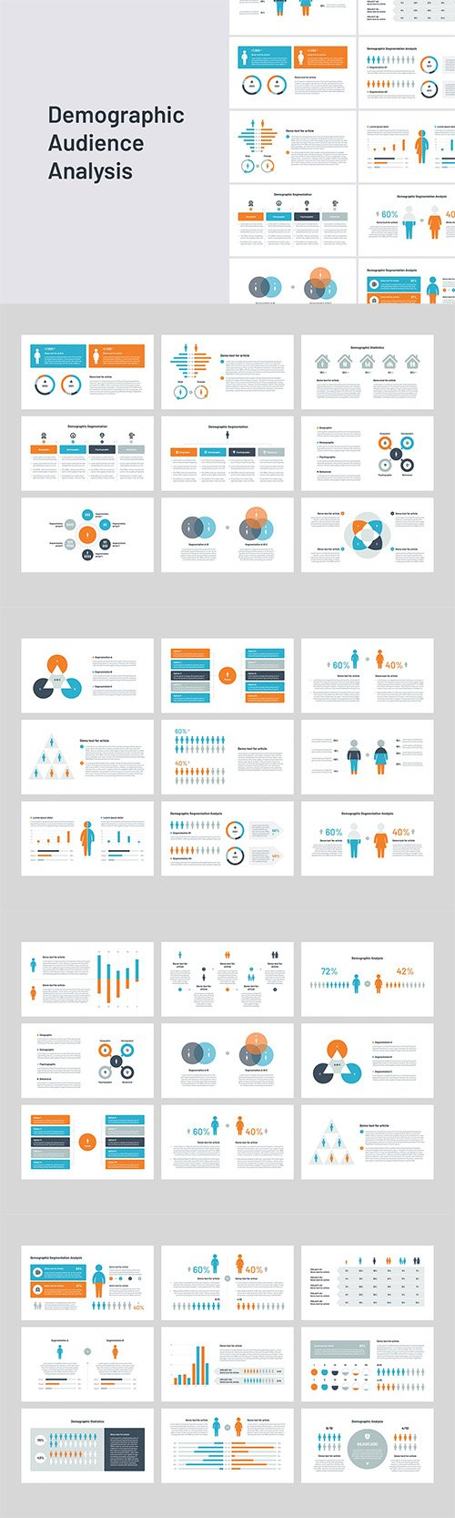 Audience & Demographic PowerPoint, Keynote and Google Slides Template