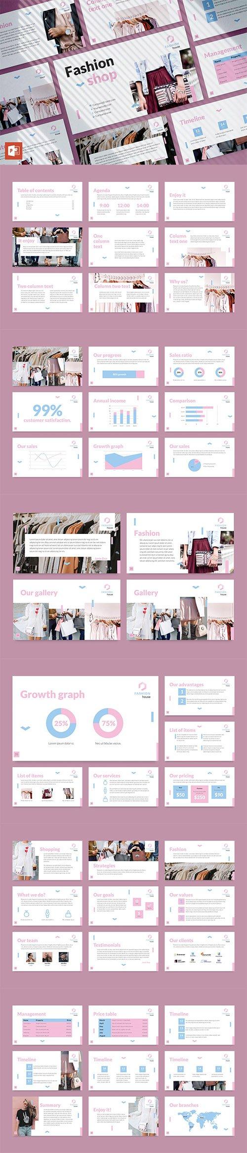 Fashion House PowerPoint Presentation Template
