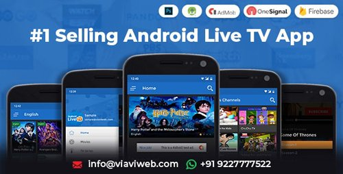 CodeCanyon - Android Live TV ( TV Streaming, Movies, Web Series, TV Shows & Originals) (Update: 1 August 19) - 7506537