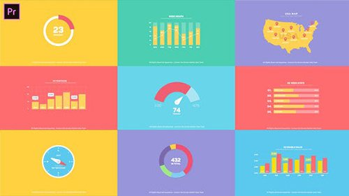 Flat Infographics Toolkit I MOGRT for Premiere Pro