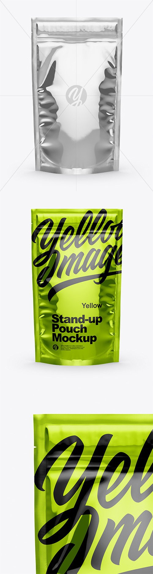 Glossy Metallic Stand Up Pouch with Zipper Mockup 51162 TIF