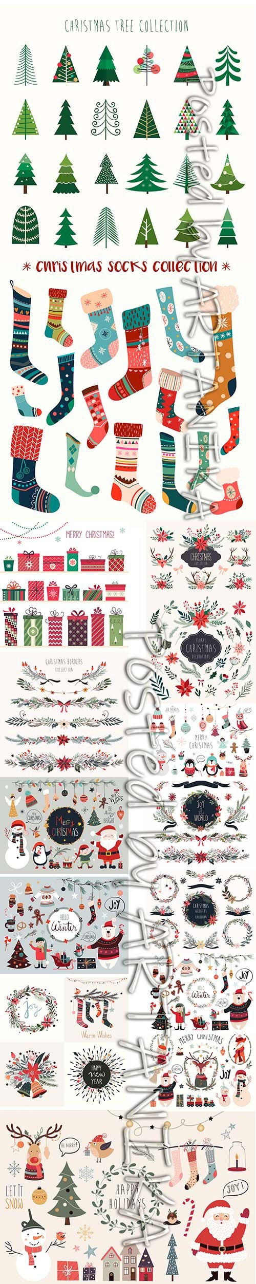 Christmas Bundle with Different Elements