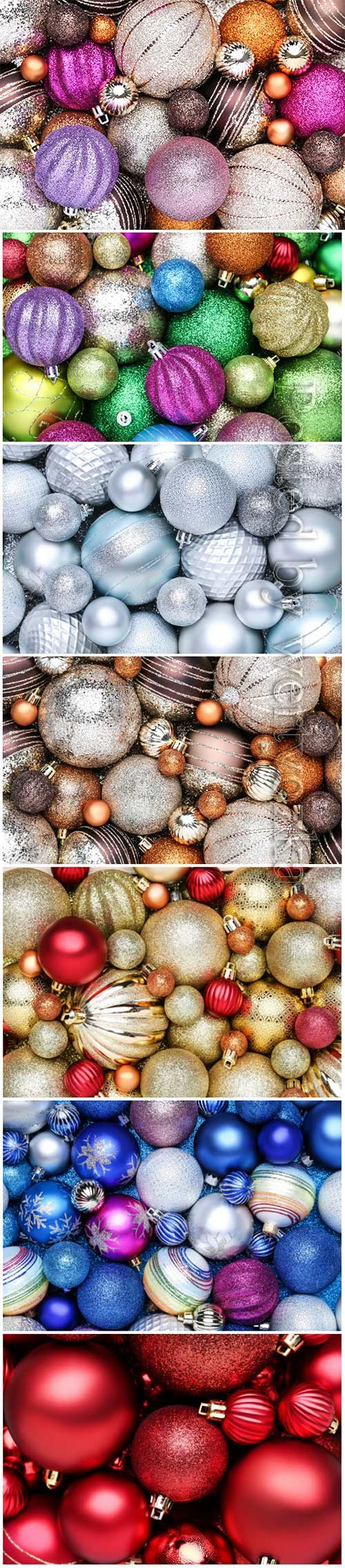 Background of colorful christmas baubles