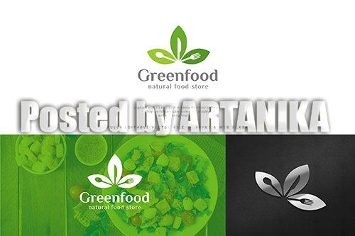 Green Food Logo Template