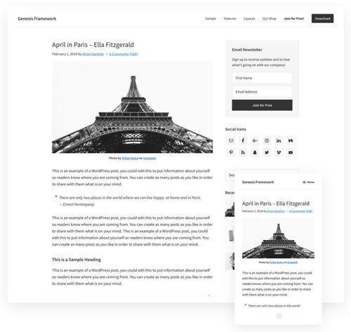 Genesis Framework v3.2.1 - WordPress Theme - StudioPress
