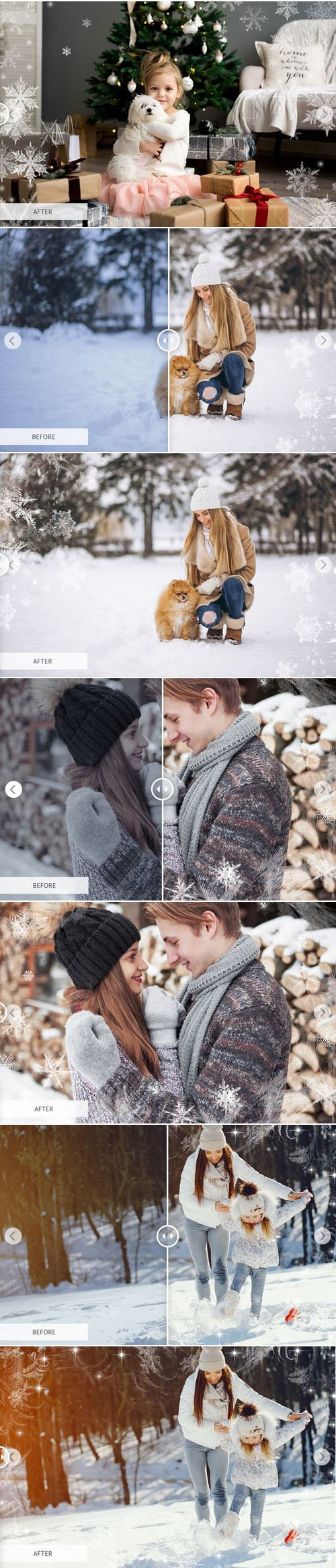 10 Winter Overlays Collection for Photoshop