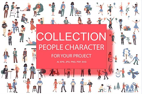 BIG Collection Flat People Character