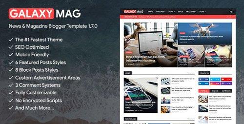 ThemeForest - GalaxyMag v1.7.0 - Responsive News & Magazine Blogger Template - 23640657