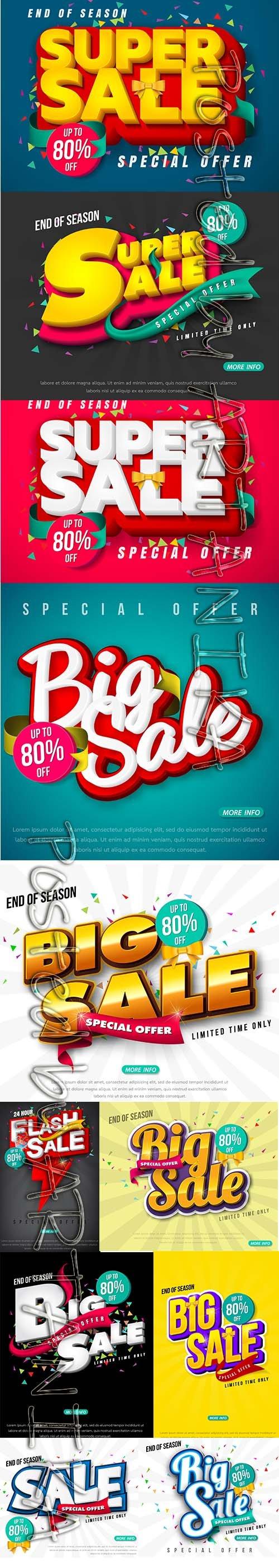Sale Banner Template Design Pack