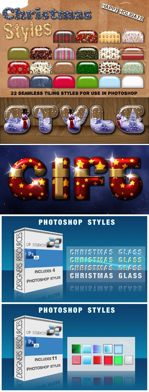 76 Holiday Styles Collection for Photoshop