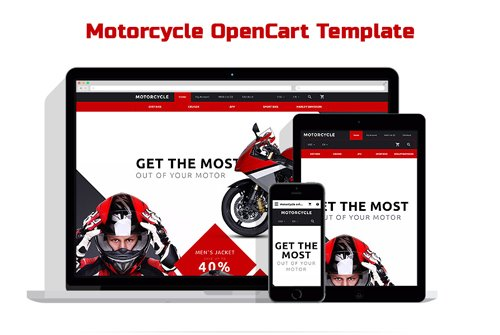 Motorcycle OpenCart Template - TM 58117