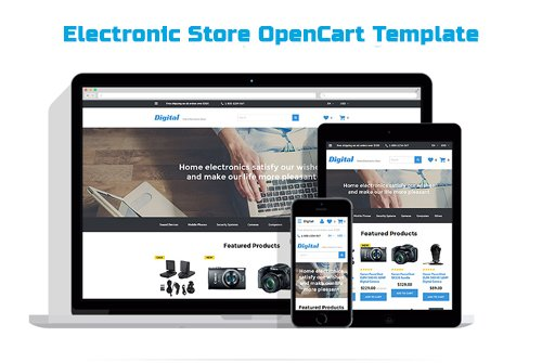 Electronic Store OpenCart Template - TM 57976