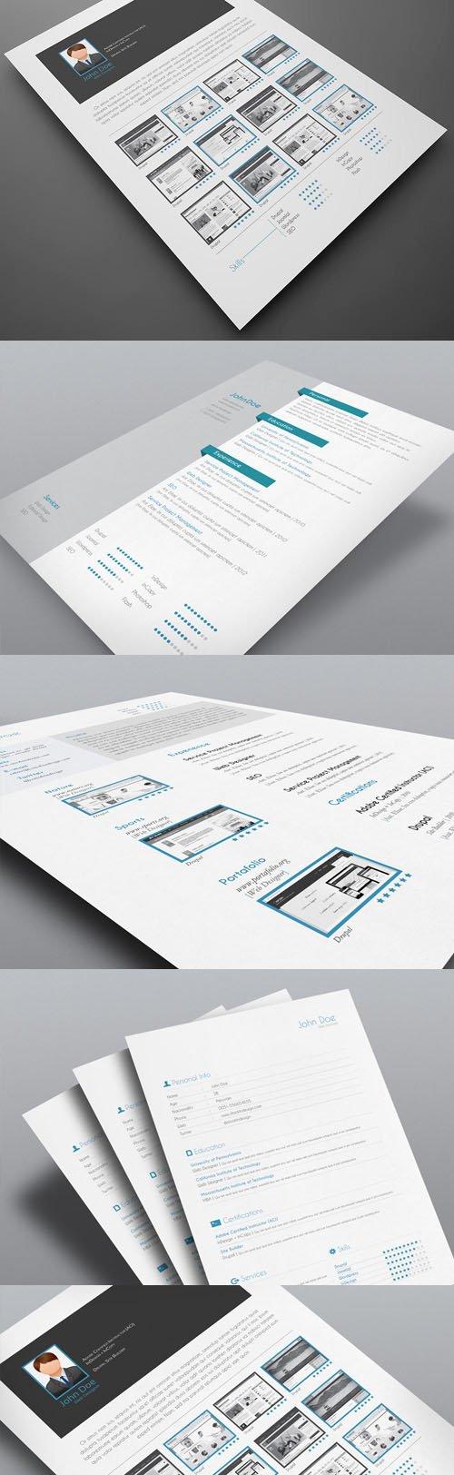 5 Resume InDesign Templates IDML