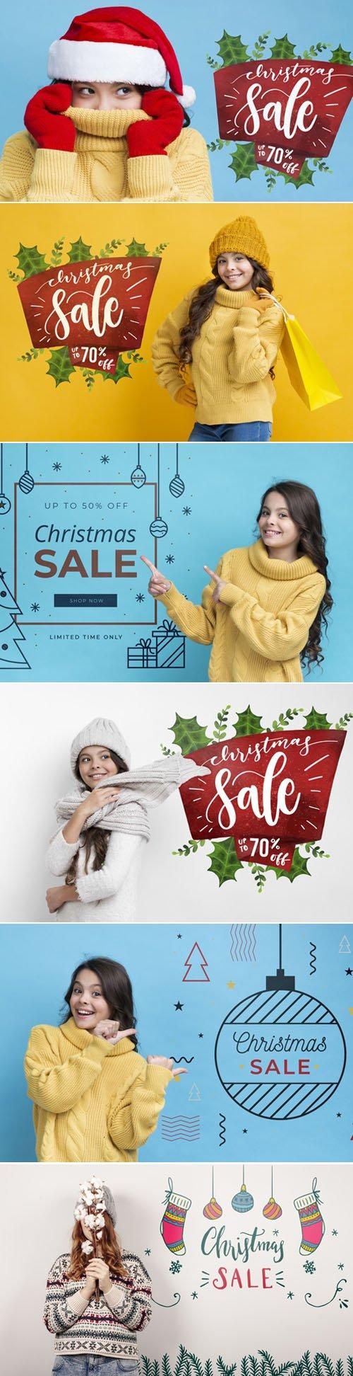 Holiday Sales PSD Mockups Templates 2