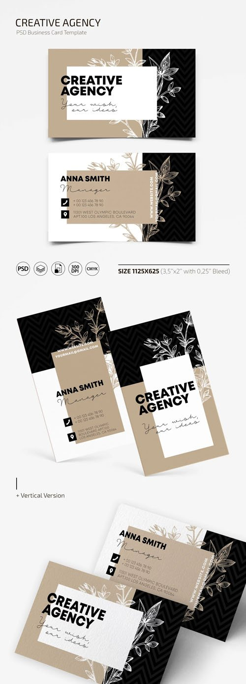 Creative Agency PSD Business Card Template