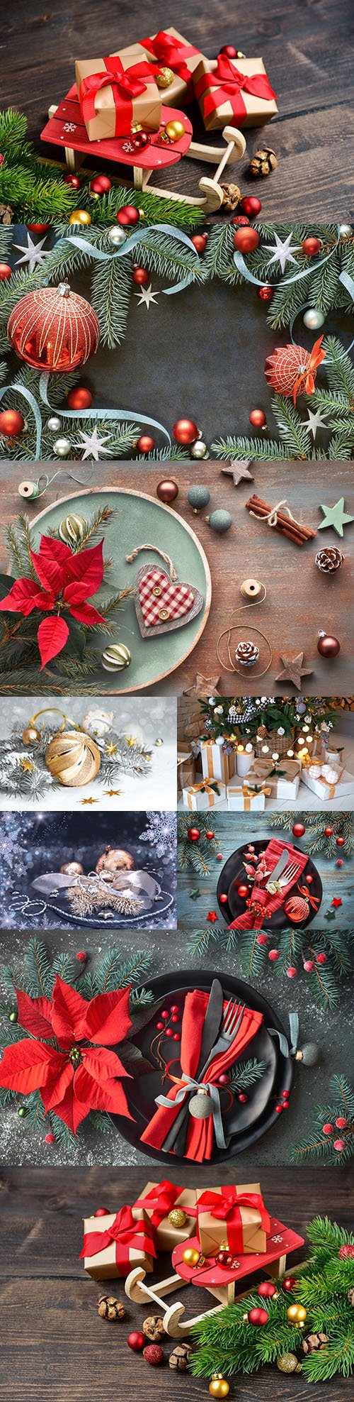 Christmas decorative composition design background