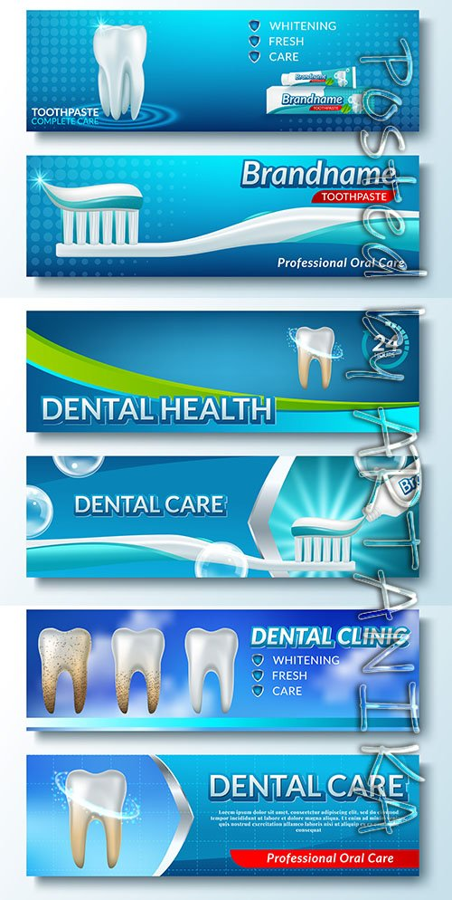 Tooth Dental Service Template Banner