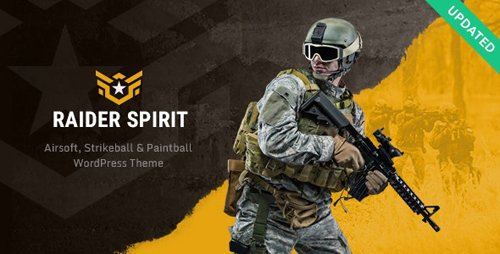 ThemeForest - Raider Spirit v1.0.3 - Airsoft Club & Paintball WordPress Theme - 22711235