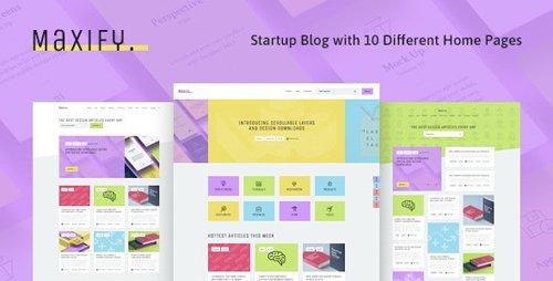 ThemeForest - Maxify v1.0.3 - Startup & Business News WordPress Blog Theme - 23349908
