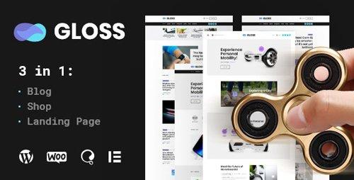 ThemeForest - Gloss v1.0 - Viral News Magazine WordPress Blog Theme + Shop - 23858846