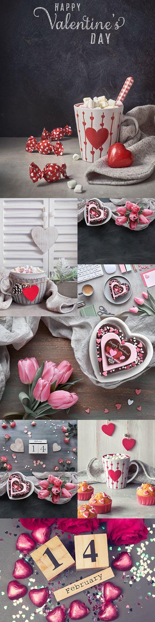 Valentine's Day romantic decorative composition