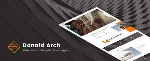 ThemeForest - Donald Arch v1.0.8 - Creative Architecture WordPress Theme - 19010269