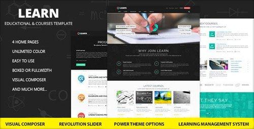 ThemeForest - Learn v1.0.9.2 - Education, eLearning WordPress Theme - 15202423