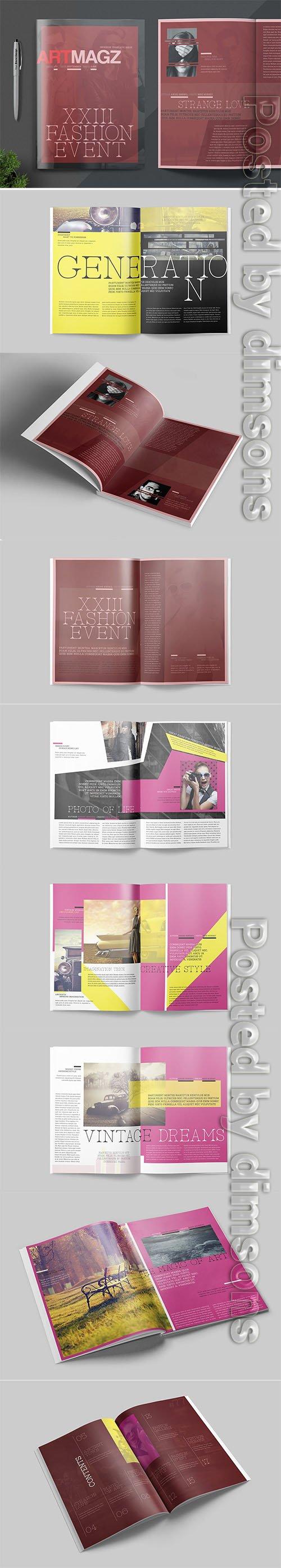 Magazine Template - Artmag