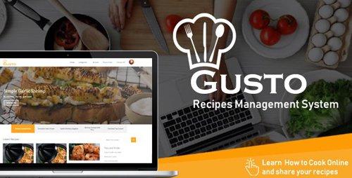 CodeCanyon - Gusto v3.2 - Recipes Management System - 22625083