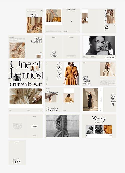 CreativeMarket - FOLK Fashion Lookbook 4358351