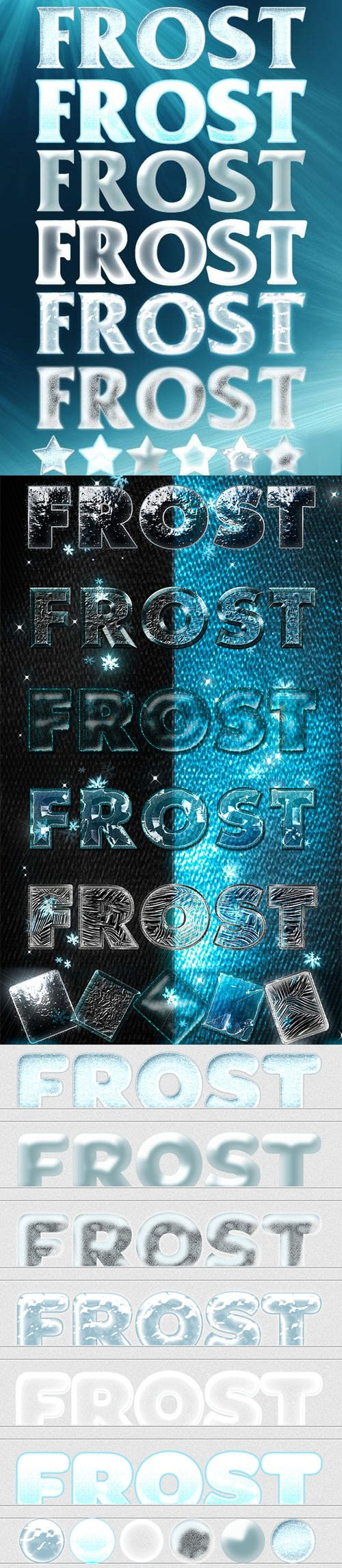 Winter Text Styles Collection for Photoshop