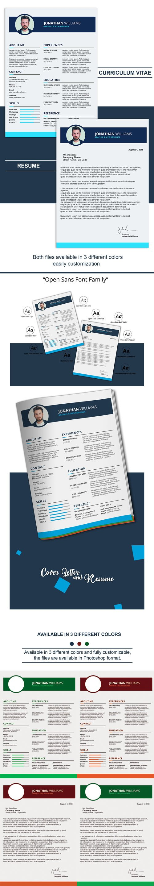 CV & Resume PSD Templates