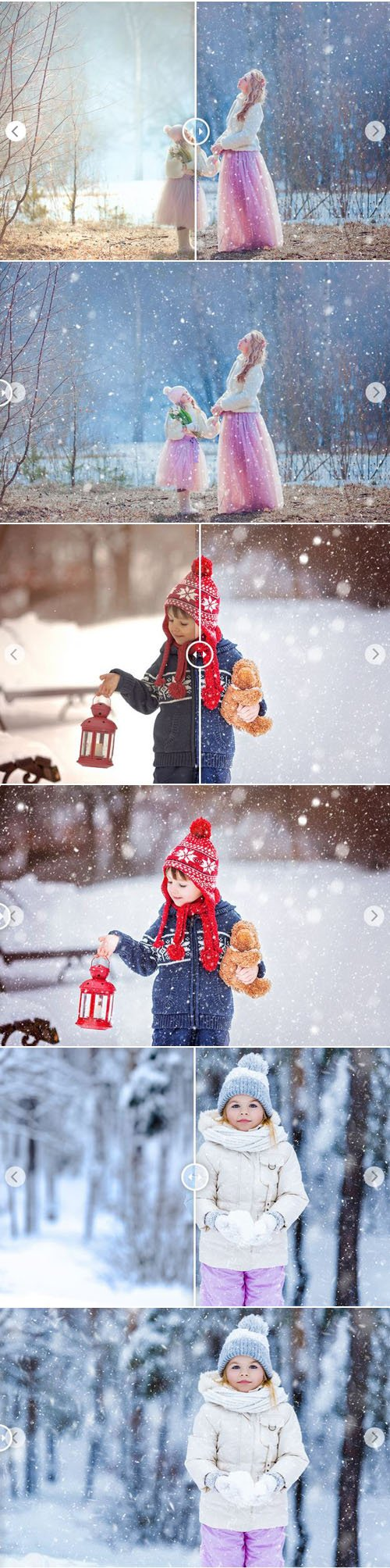 10 Snow Overlays Bundle for Photoshop