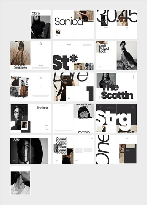CreativeMarket - CLARE Photography Lookbook 4407581