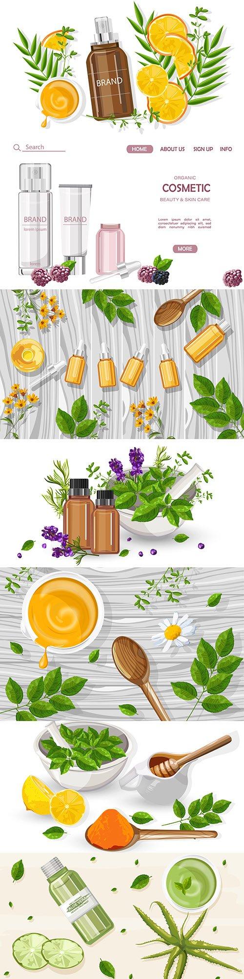 Cosmetics and facial skin care design composition