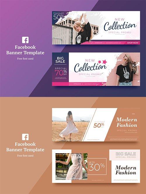 Vector Fashion Facebook Banner 1,2
