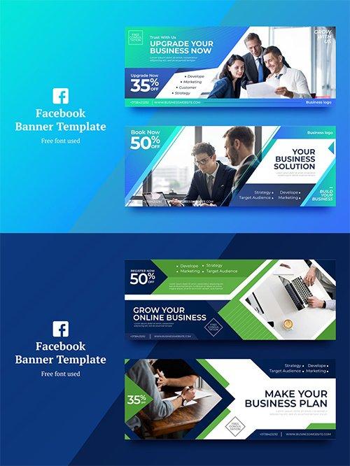 Vector Business Facebook Banner 1,2