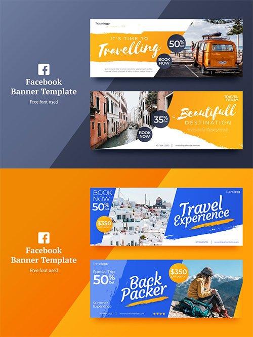 Vector Travel Facebook Banner 1,2