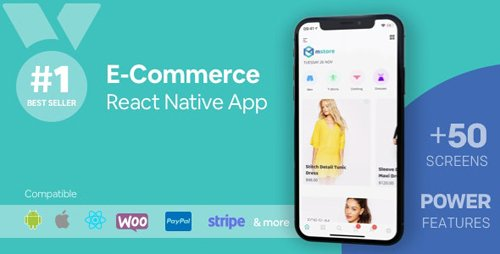 CodeCanyon - MStore Pro v3.9.7 - Complete React Native template for e-commerce - 17010642