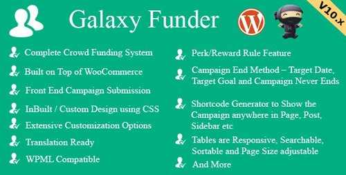 CodeCanyon - Galaxy Funder v11.3 - WooCommerce Crowdfunding System - 7360954