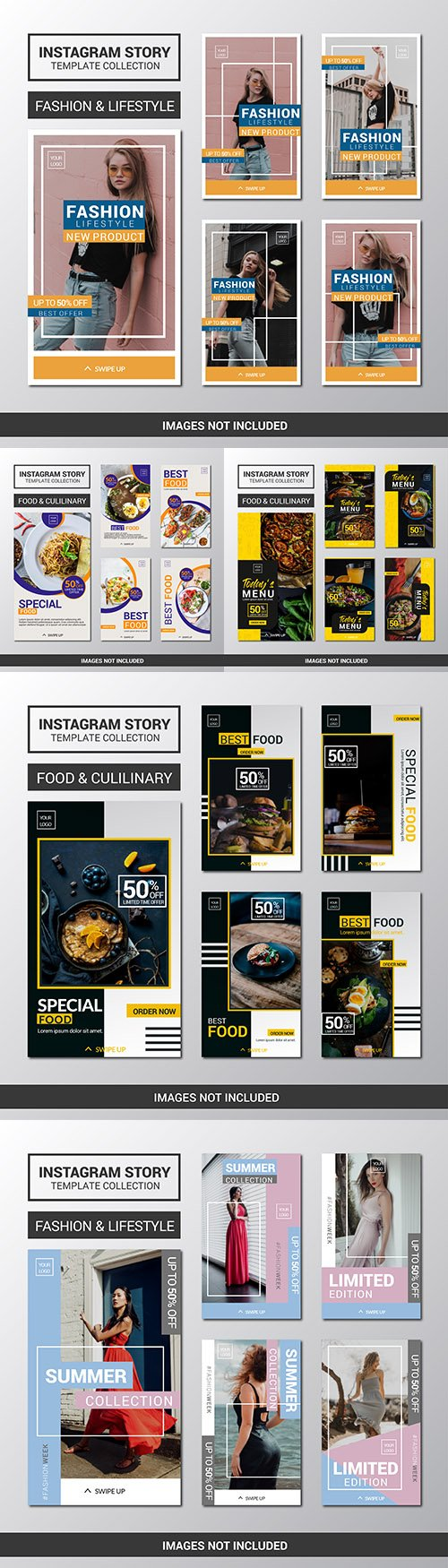 Instagram story collection design templates