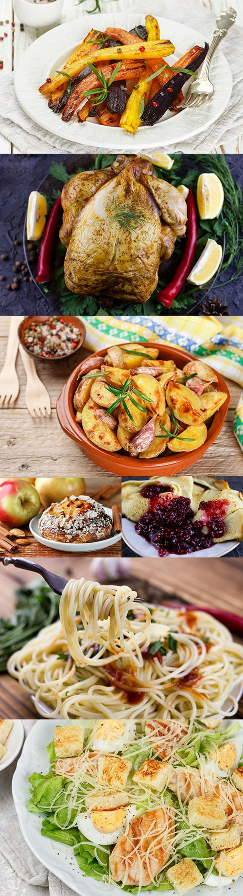 Salads, meat and desserts delicious varied menu