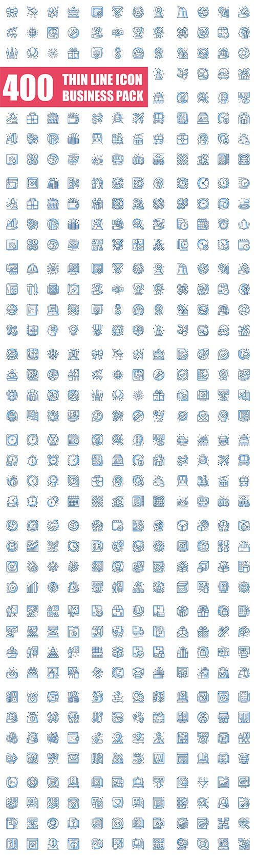Thin Line Icons Business Pack